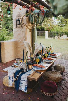 Blue, Orange and Yellow Moroccan Themed Wedding Reception Inspiration. Photo by Aurora Photography. Moroccan Wedding Theme, Indian Wedding Receptions, Moroccan Party, Wedding Mandap, Wedding Ceremony, Peach Wedding Invitations, Wedding Planner, Wedding Planning Tips, Wedding Stage Decorations