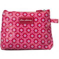 Lou Harvey small cosmetic bag vinyl-covered in Beatrice design, great for #summer #beachbags #waterproof