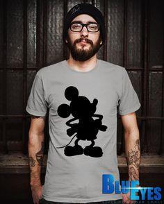 Mickey Silhouette Men TShirt Mickey Mouse TShirt by Bluemripat, $18.98