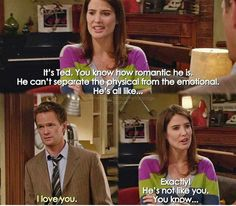 Series Movies, Movies And Tv Shows, Tv Series, Tv Show Quotes, Movie Quotes, Barney And Robin, How Met Your Mother, Robin Scherbatsky, Ted