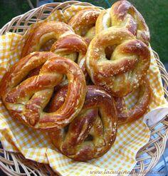 Bretzels géants (Pretzels) moelleux et tendres