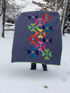 simple, graphic quilt with great use of color