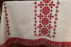 Your place to buy and sell all things handmade Linen Tablecloth, Rustic Table, Ethnic Fashion, Table Covers, Country Decor, Hand Embroidery, Bohemian Rug, Polish, Fancy