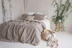Items similar to Flax Bed Linen. Linen Duvet Cover Gray Grey Queen King Stonewashed Eco friendly - Custom size on Etsy Linen Duvet, Bed Linen Sets, Linen Fabric, Queen Bedding Sets, Luxury Bedding Sets, Comforter Sets, Master Suite, Master Bedroom, Bedroom Art