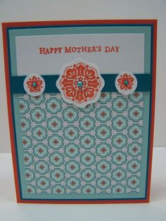 Stampin Up Handmade Greeting Card: Mother's Day Card, Happy Mother's Day, Step Mother Card, Mother-in-Law Card, Sister Card, Best Mother