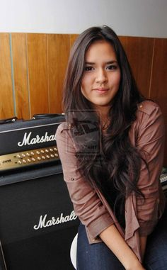 Raisa Andriana by marketplus Bon Jovi, Asian Woman, Leather Jacket, Long Hair Styles, My Love, Celebrities, Face, Model, Beauty