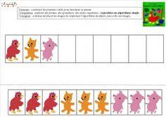La petite poule rousse : Algorithmes – MC en maternelle Math Gs, French Immersion, Montessori, Kindergarten, Kids Rugs, Education, Blog, Animals, Lectures