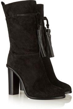 Lanvin | Tasseled suede boots | NET-A-PORTER.COM