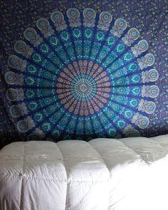 Teal Mandala Tapestry - The Bohemian Shop - 1