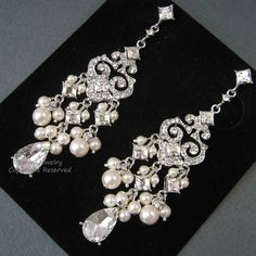 Bridal Jewelry Set, Necklace & Earrings Set, Crystal and Pearl ...