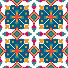 n resumen textura wallpaper real vector Tela ilustraci? Graphic Patterns, Tile Patterns, Pattern Art, Textures Patterns, Mandala Art, Mandala Colour, Azulejos Diy, Mexican Pattern, Motif Floral