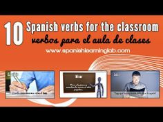 10 Spanish verbs for the classroom (phrases + tips + audio) Useful Spanish Phrases, Spanish Grammar, Spanish Teacher, Spanish Classroom, How To Speak Spanish, Teaching Spanish, Spanish Language, Learn Spanish, Dual Language