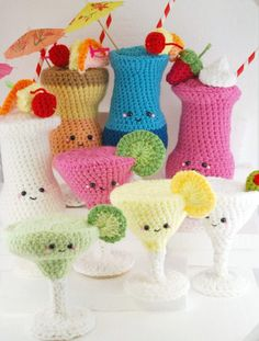 Cocktail Collection amigurumi crochet pattern by You Cute Designs