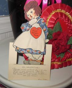 VINTAGE PF VOLLAND GRUELLE RAGGEDY ANN VALENTINE DATED 1921~EXCELLENT!