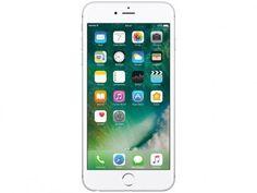 """iPhone 6s Plus Apple 128GB Prata 4G Tela 5.5"""" - Retina Câm. 12MP + Selfie 5MP iOS 10 Proc. Chip A9 com as melhores condições você encontra no Magazine 1passodoparaiso. Confira!"""