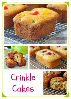 Gumdrop Crinkle Cakes - a childhood lunchbox favourite makes a comeback in this easy snack cake recipe. Links to three other recipe versions too which can be made in muffin pans if you prefer.
