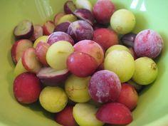Pour rafraîchir votre corps durant les étés chauds. Les raisins, ou les boules de melon ou de pastèque congelés, constituent de véritables perles glacées délicieusement rafraîchissantes!  Pour les raisins, mieux vaut les prendre sans pépins ! Pour les raisins avec pépins, pensez à les couper en deux et à enlever les pépins avant de les congeler pour en faire des bouchées glacées.