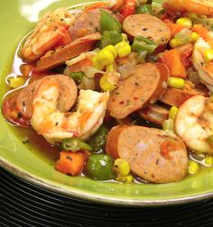 New Orleans Stew with Shrimp and al fresco Smoked Andouille Chicken Sausage