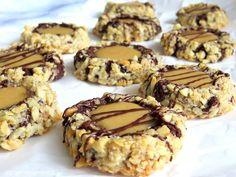 Rezepte mit Herz: Chocolate Turtle Cookies ♡ Schokoladen Karamell Kekse