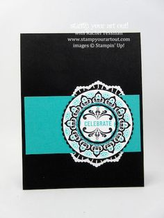 Make A Medallion Sale-a-Bration 2017: Click here to find out how to recreate this card…#stampyourartout - Stampin' Up!® - Stamp Your Art Out! www.stampyourartout.com