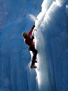 In the mountains of southwestern Colorado, Ouray is home to the world's first park devoted exclusively to the sport of ice climbing. It also hosts an annual ice climbing festival. Trekking, Mountain Climbers, Ice Climbing, Climbing Girl, Extreme Sports, Mountaineering, Outdoor Activities, Extreme Activities, Adventure Travel