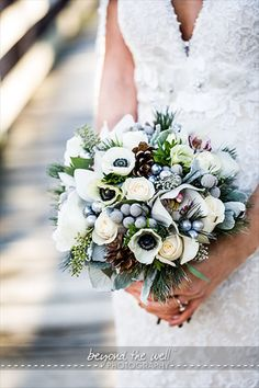 One Fine Day Events - Chicago Flora Flowers, Green Flowers, Coffee Filter Roses, Wedding Bouquets, Wedding Flowers, Winter Bouquet, One Fine Day, Wedding Designs, Wedding Ideas