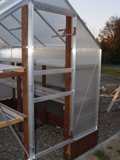 Building and Improving the Harbor Freight Greenhouse: 11 Steps (with Pictures) 6x8 Greenhouse, Greenhouse Supplies, Greenhouse Ideas, Greenhouse Gardening, Harbor Freight Greenhouse, Wooden Greenhouses, Polycarbonate Panels, House Windows, Hydroponics