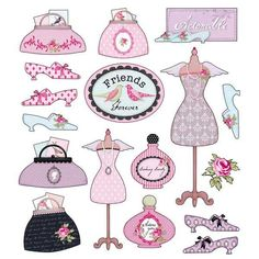 10 Tilda Craft Ideas to add Whimsy Beauty to your Crafts. Diy And Crafts, Arts And Crafts, Paper Crafts, Etiquette Vintage, Bordados E Cia, Sewing Art, Scrapbook Embellishments, Collage Sheet, Sticker Paper