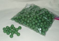 Marbles Glass Green 300 pcs Great for Crafts by WMCraftSupplies