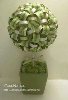 washi tape topiary