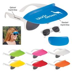 Two-Tone Visor Sunglasses - Item 6212 #promoproducts
