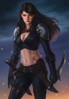 f Half Elf Fighter Plate Armor Sword village mountains rain Fantasy_Arts Fantasy Character Design, Character Concept, Character Inspiration, Character Art, Concept Art, Armor Concept, Female Armor, Female Knight, Female Assassin