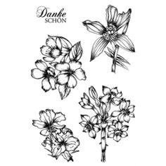 Karten-Kunst Clear Stamp Set Exotische Blumen - Gesehen bei Karten-Kunst!