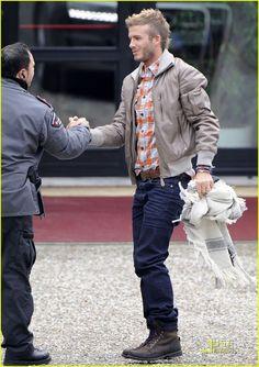 David Beckham is a Milan Mohawk Man