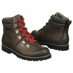First Ascent boots - Leather upper in a casual ankle boot style with a round toeD-ring lace-up front with padded collarHeel tabTextile lining cushioned insoleStitched midsoleOil resistant Rubberlon traction outsole1 inch heel