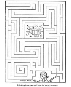 Treasure Chest Maze for Kids Activity to Print | Learning Printable