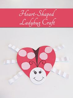 How to make a sweet ladybug Valentine's Day kids craft with construction paper.