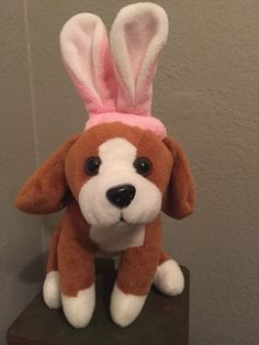 Animal Adventure Brown, Black and White Dog with Bunny Ears Plush | Toys & Hobbies, Stuffed Animals, Other Stuffed Animals | eBay!