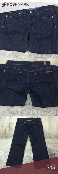 """Anthropologie 7 for all mankind the crop dojo Anthropologie 7 for all mankind the crop dojo  jeans cotton and spandex blend inseam 21""""rise 7.5"""" Anthropologie Jeans Ankle & Cropped"""