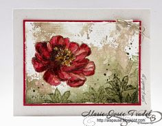 A La Pause: Eclosion d'Espoir - Version Aquarelle, Marie-Josée Trudel SU Stampin' Up! cartes cards Bloom with Hope watercolors
