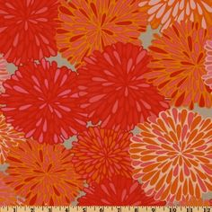 44 Wide Valori Wells Wrenly Bloom Mandarin Orange Fabric By The Yard by Free Spirit, $5.98 /yrd http://www.amazon.com/dp/B00598EP1I/ref=cm_sw_r_pi_dp_f07urb16TVRDK
