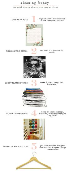 Spring clean your closet w/ these easy tips