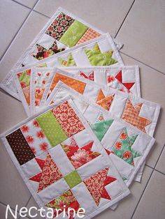 Quilted placemats - quilt blocks