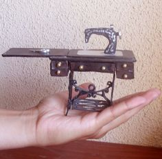 how to: old fashioned sewing machine