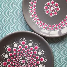 Stone Art Painting, Dot Art Painting, Mandala Painting, Pebble Painting, Pottery Painting, Ceramic Painting, Painted Plates, Painted Letters, Dot Letters