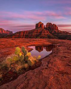 Sundown by Danilo Faria, via 500px; Cathedral Rock, Coconino National Forest in Yavapai County, Arizona