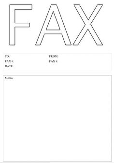 The Word Fax Is Huge In An Outline Font On This Printable Fax Cover Sheet.  Ms Word Fax Template