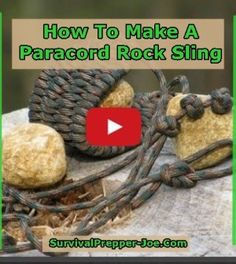 How To Make A Paracord Rock Sling