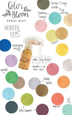 Prima's CHA Winter 2014 Peeks! That's right! Prima has developed a SPECIAL color spray that gives you more control over how the color is sprayed on your projects! Stay tuned for more information coming very soon! #chawinter2014