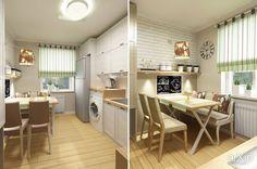 компактная кухня: интерьер, квартира, дом, кухня, скандинавский, 10 - 20 м2 #interiordesign #apartment #house #kitchen #cuisine #table #cookroom #scandinavian #10_20m2 arXip.com
